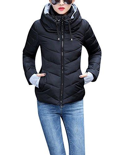 Blouson Manteau Manteaux Femme Parka Portable ZongSen Hood Doudoune Courte Duvet avec en Noir wtxEv4