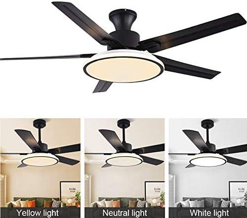 Novelty lamp Ventilador de Techo de Madera con Luz y Control ...