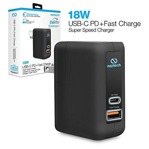 Naztech 18W USB-C PD + Adaptive Fast Wall Charger