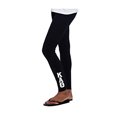 Kappa Alpha Theta Leggings Full Length With White Stitched Greek