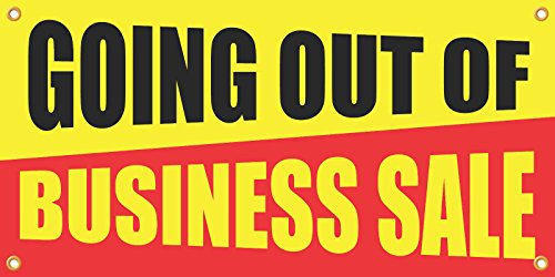 Reviews/Comments Going Out Business Sale Retail Banner Sign, ' , Full Color,
