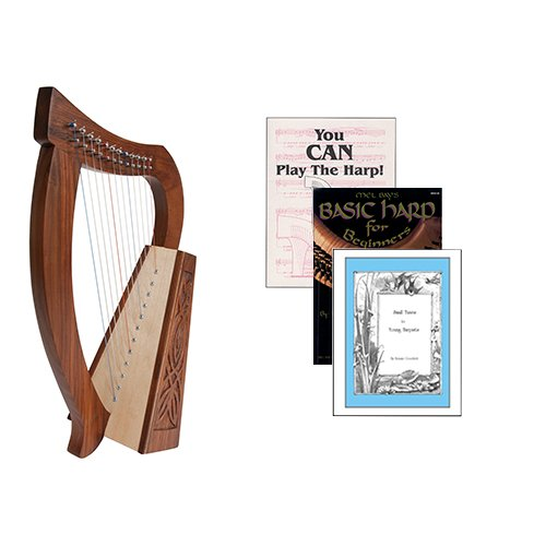 Homeschool Music Baby Harp w/Introduction to Harp Book Bundle + Small Tunes For Young Harpists by Homeschooling Harps