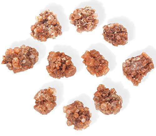 JIC Gem 10 pcs Beautiful Natural Aragonite Cluster Healing Crystal Quartz Irregular Home Decoration Specimen ()