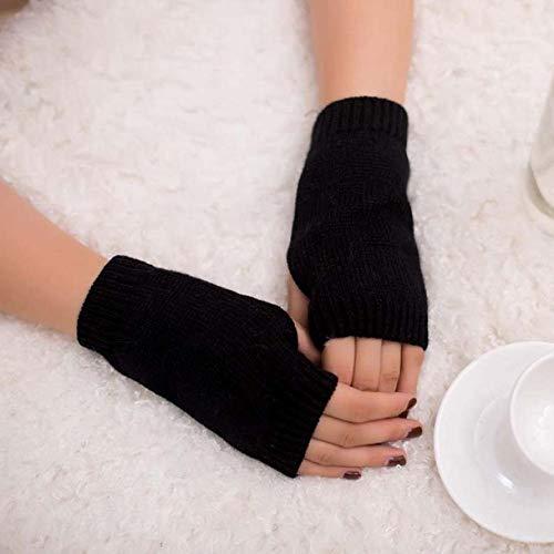 Lannmart Beautiful Women Girl Exquisite Knitted Crochet Arm Fingerless Warm Thermal Winter Gloves Soft Warm Glove Mittens