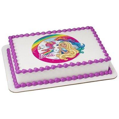 Barbie Comestible Glaseado Para 20 3 Cm Ronda Pastel De Imagen