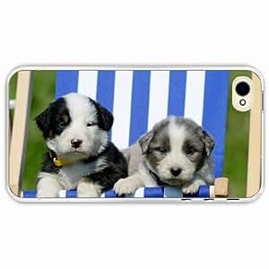 iPhone 4 4S Black Hardshell Case recreation sunbed Transparent Desin Images Protector Back Cover