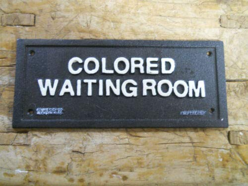 - JumpingLight Cast Iron Sign Colored Waiting Room Black Americana 1937 Bus Stop Plaque Cast Iron Decor for Vintage Industrial Home Accessory Decorative Gift