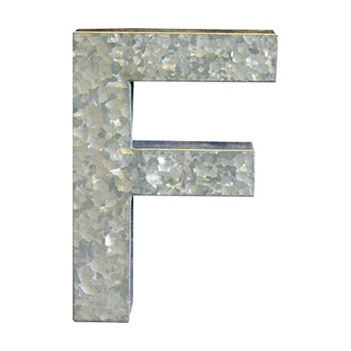 Modelli Creations Alphabet Letter F Wall Decor, Zinc by Modelli Creations