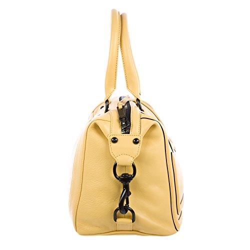 REBECCA MINKOFF Natural Beige M.A.B. Mini Bombe Satchel Handbag Bag