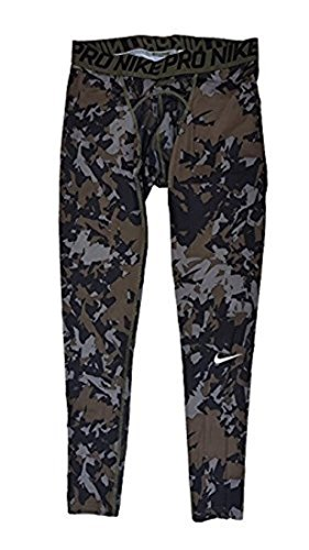 Nike Men's Pro Hypercool Compression Splinter Tights Camo 839677 037 (Large) by NIKE