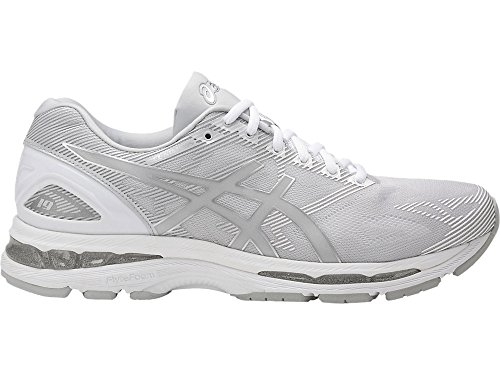 ASICS Mens Gel-Nimbus 19 Running Shoe, Glacier Grey/Silver/White, 15 Medium US