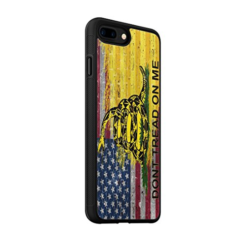 407Case Compatible with iPhone 7+/8+ Protective Rubber Phone Case Make American Gadsden Flag Brick Wall Make America Great Again MAGA