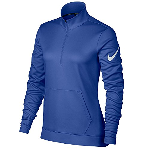 NIKE Therma Fit Half Zip Fleece Golf Jacket 2017 Women Game Royal/White Large