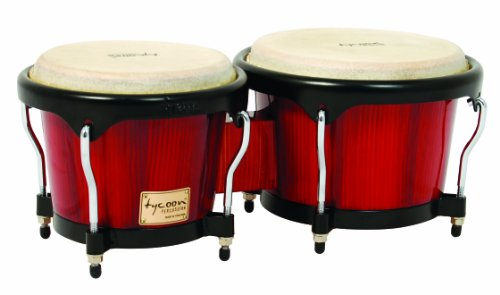 Tycoon Percussion 7 Inch & 8 1/2 Inch Artist Series Bongos - Red Finish