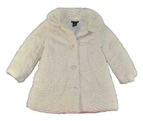 Calvin Klein Little Girls' Faux Fur Outerwear Jacket, Assorted, 3T]()