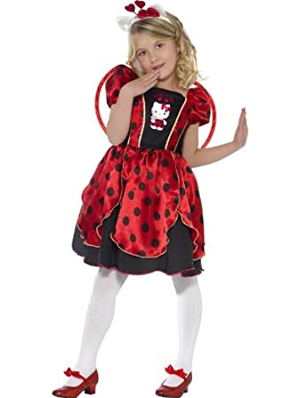 7e1ca6abd Hello Kitty Fancy Dress Childrens Fancy Dress Lady Bug Costume Medium Age  7-9: Amazon.co.uk: Toys & Games