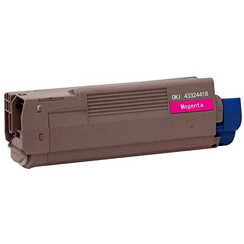 Bulk 43324418 Oki-Okidata Compatible Laser Toner Cartridge, Magenta Ink: CO6100M (5 Toner Cartridges) (C6100n Laser Printer)