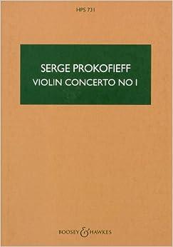 プロコフィエフ: バイオリン協奏曲 第1番 ニ長調 Op.19/ブージー & ホークス社小型スコア