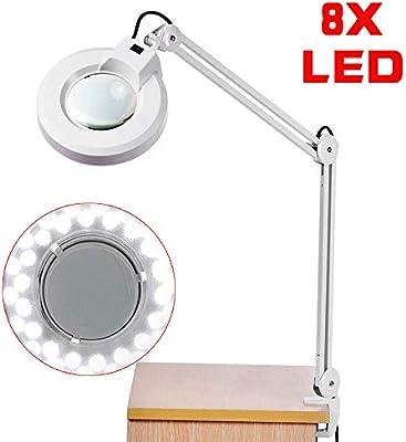 8X Lupa Lámpara de mesa Lámpara de mesa Mesa lupa Electrónica DIY ...