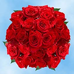 Beautiful Freedom Red Roses | 100 Freedom Red Roses for Valentine's Day