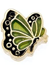 August Butterfly Enamel Birthmonth Charm for Floating Lockets
