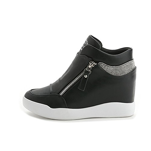 High Rubber U Casual Women Wedges Anti Top Slip Breathable MAC Sneakers Shoes for Black Women's rrwAExqP