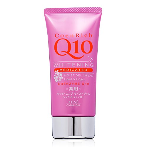KOSE Coenrich Q10 Whitening Medicated Moist Gel Hand Cream, 1 (Kose Nail)