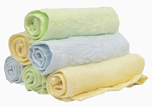 Baby Bee Loved Baby Washcloth, 6 Pack