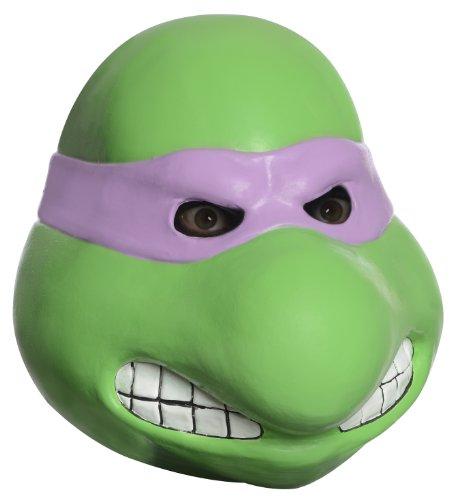 Ninja Turtles Latex Costume (Nickelodeon Ninja Turtles Adult Donatello Overhead Latex Mask, Green, One Size)