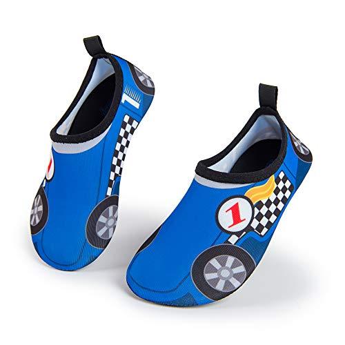 Weestep Toddler/Little Kid Boys Girls Aqua Sock Shoe (9.5-11 M US Toddler, Car/Blue) (Shoes Toddler Aqua)