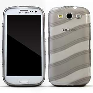 Zooky® gris TPU gel ola-línea FUNDA / CARCASA / COVER para Samsung Galaxy S3 i9300
