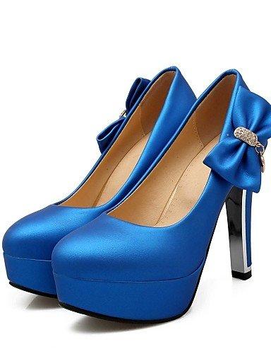 GGX/ Damen-High Heels-Büro / Lässig-PU-Stöckelabsatz-Absätze / Rundeschuh-Schwarz / Blau / Rot / Silber black-us8 / eu39 / uk6 / cn39