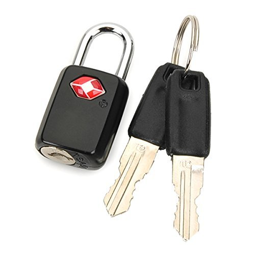 TSA Lock Travel Luggage Padlock - Ultra-Secure Key Travel Locks with Zinc...