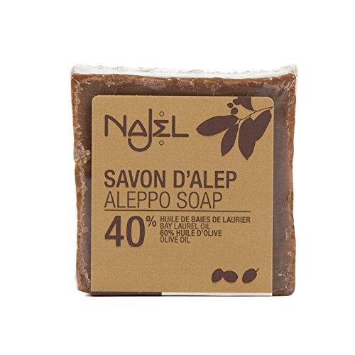 Najel Aleppo-Seife 40% Lorbeeröl, 1er Pack (1 x 200 g)