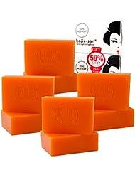 8 Bars of 135gm Kojie San Skin Lightening Kojic Acid Soap - 4 Packs of 2 Bars