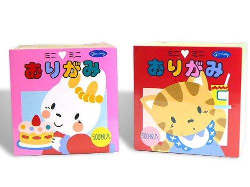 Showagrimm Mini Mini Origami Paper, Set of 500 Sheets (Japan Import)