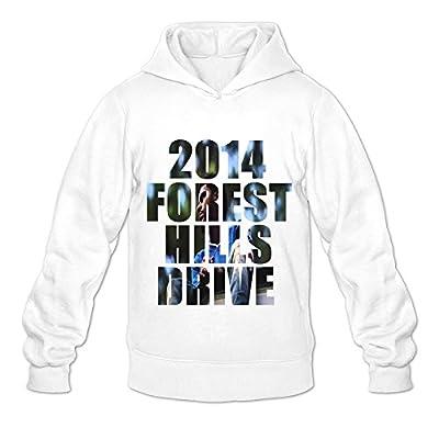 Men's J. Cole 2014 Forest Hills Drive Rock Hoodies Sweatshirt Size US White