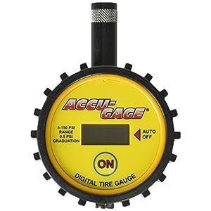 Accu-Gage DT110 5-150PSI Digital Trie Gauge, Yellow/Black/Chrome
