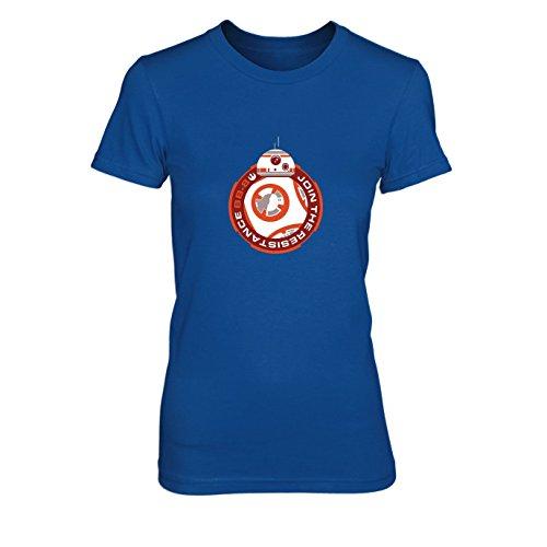 Join BB8 - Damen T-Shirt, Größe: M, Farbe: blau