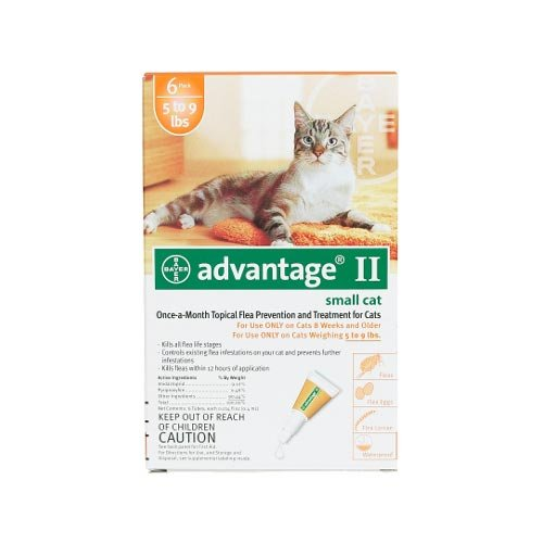 Advantage Pet Care Flea Control for Cats 1-9 Lbs 6 Pack by Bayer Animal Health