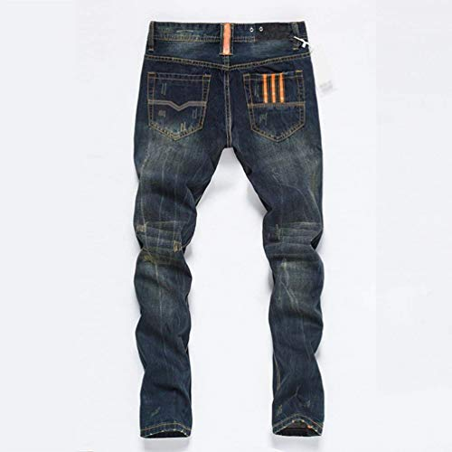 1 Da Gamba Pantaloni Casual Vintage Aderenti Stretch Classiche Orange Ssig Ragazzi Denim Dritta Uomo In Jeans Denim 1dqUwa