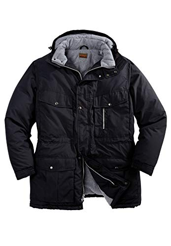 Boulder Creek Men's Big & Tall Expedition Parka Coat, Black Big-5Xl (Zip Coat Quilted Full)