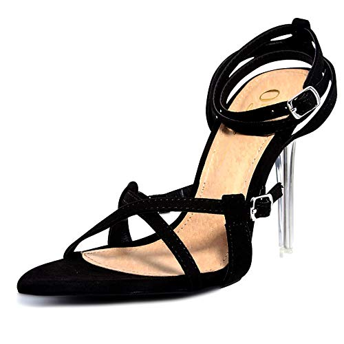 3ca6eaaf65df1 shoewhatever Olivia Jaymes 2019 Women's Rhinestone Stiletto Open Toe Heeled  Sandal
