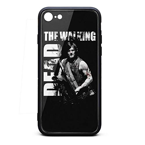 (The-Walking-Dead-Zombie- iPhone 6Plus Case with Anti-Scratch Reflective 9H Tempered Glass and Soft TPU Bumper,Shockproof Drop Protection for iPhone 6SPlus)