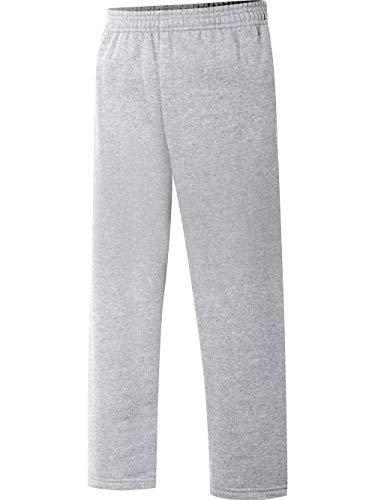 (Hanes Big Boys' Eco Smart Fleece Open Bottom Pant, Light Steel, Medium)