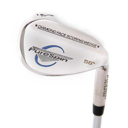 New Pure Spin Diamond Face Scoring Wedge 58.0 Steel RH by Purespin