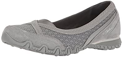 Skechers Women's Bikers-Skim Flat,Grey,5 M US