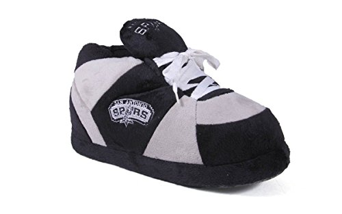 SAS01-4 - San Antonio Spurs - XL - Happy Feet Mens and Womens NBA Slippers