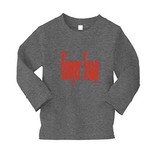 Ginger Snap Kid/Baby Long Sleeve Cotton T-Shirt Tee - 2T, Oxford Gray, ()