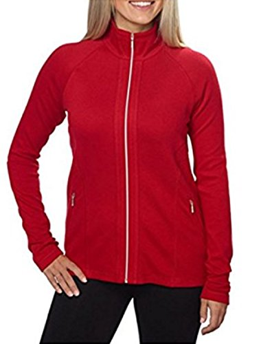 KIRKLAND SIGNATURE FULL ZIP CADET COLLAR STRETCH JACKET( Red, (Cadet Collar Jacket)